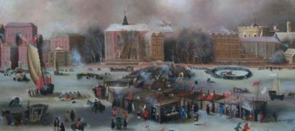 The Frost Fair oleh Rita Greer (Courtesy: wikipedia)